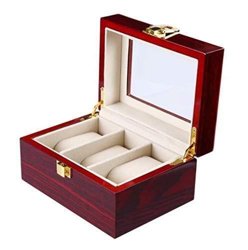 LQH Caja de Reloj de Pintura, Caja de Reloj Caja de Joyas de exhibición de exhibición de Almacenamiento Almacen de Almacenamiento con Tapa de Vidrio