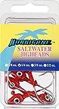 HURRICANE FSWG14-9RD-N Saltwater Jighead Red 1/4Oz