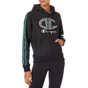 Champion Women's Reverse Weave Po Hood-Houndstooth