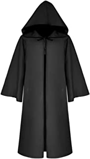 Xinvision Unisex Halloween Hooded Cloak Wizard Witch God of Death Medieval Cape