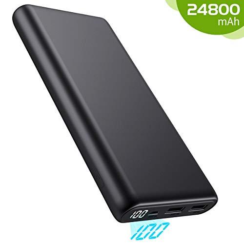 kilponen Powerbank 24800 mAh,[Neues LCD-anzeige Modell] Externer Akku Power Pack Ladegerät mit Dual Output Extrem hohe Kapazität Tragbares Ladegerät Externer Batterie Pack für Smartphones und Tablets