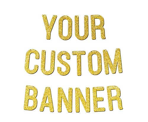 Personalised Bunting Custom Banner Birthday Bridal Baby Shower Wedding Anniversary Engagement Party Decorations Glitter Rose Gold P1089