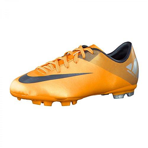 Nike JR MERCURIAL VICTORY II FG Kinder Fußballschuhe, orange/grau/silber, Gr.33 (US1.5)(UK1)