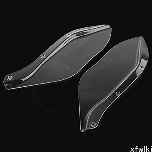 Be82aene Moto Ala Parabrezza Aria deflettore FLHR FLHT FLHX 1996-2013 Nero/Trasparente Aspetto Elegante (Colore : Clear)