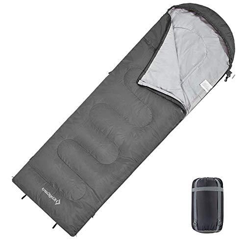 KingCamp Sac de Couchage Compact 3 Saisons Connectable pour Double Sac de Couchage Ultralight Enfant Adulte Duvet Grand Froid pour Camping Hiking Trekking Randonnée Extérieur