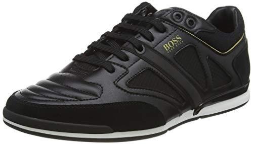 BOSS Herren Saturn_Lowp_strf 10214531 01 Sneaker, Schwarz (Black 001), 43 EU