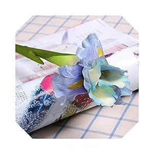 Silk Flower Arrangements MUZIBLUE Artificial Flower Garlands for Decoration| Artificial Iris Flower Branch Spring Wedding Decor Home Table Decoration Silk Fake Flower Party Supplies