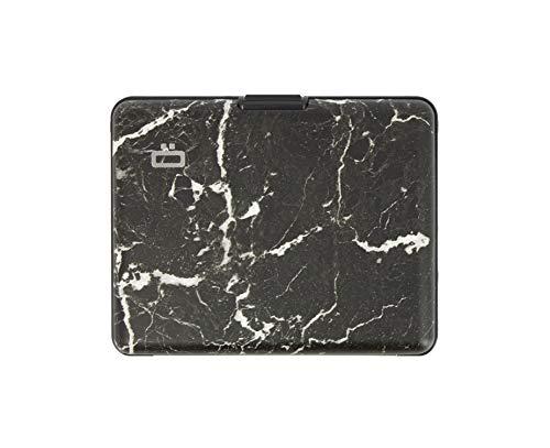 Ögon Smart Wallets – Brieftasche im Ausweis-Format und für den Führerschein – RFID Schutz: schützt Ihre Karten gegen Betrug – bis zu 10 Karten Marmor L