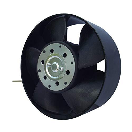 Ventilador Extractor Axial de Alta Temperatura 150°C para conductos Circulares 150 mm Rodamiento a Bolas NSK Japón Double Sellado de Larga Vida de 30.000 Horas
