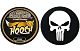 Hooch Herbal Snuff Whiskey Fine Cut 1 Can with DC Crafts Nation Skin Can Cover - Punisher