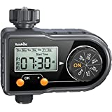RAINPOINT Sprinkler Timer, Water Timer for Garden Hose Programmable Irrigation Timer with 3 Watering Programs, Week/Day Cycle Frequency, Manual/Automatic Irrigation System Controller, for Lawn Pool