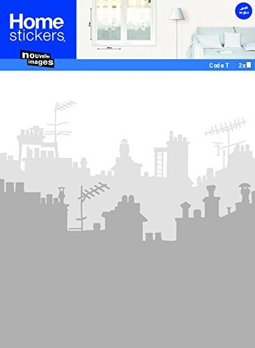 Melkglas raamsticker inkijkbescherming 8 verschillende motieven, model: Skyline