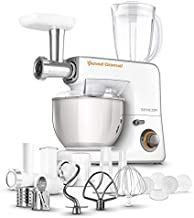 Sencor Food Processor, 5.5 Liters Steel Bowl with Handle, 1000 Watts, White, STM 3700WH