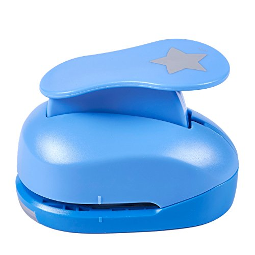 Paper Punch Shapes - Star-Shaped Hole Puncher for Scrapbook, DIY Craft Project, Kids Artwork, Blue, 4.25 x 3.1 x 2.75 Inches