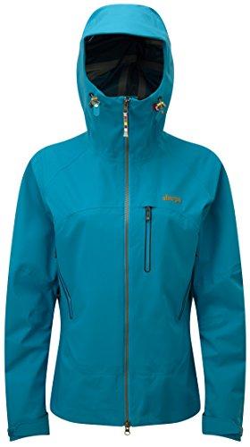 Sherpa Damen Lithang Mantel XL Blue Tara