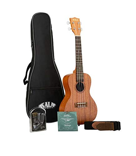 Kala KA-15-C-BNDL - Ukelele de concierto (madera de caoba)
