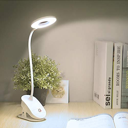 クリップライト LED デスクライト 2020最新版 18 LED usb 充電式 充電/差込兼用 3階段調光 360度回転可能 タッチセンサー式 電気スタンド 勉強 目に優しい 寝室 読書灯