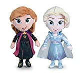 Disney - Pack 2 Peluches 11'81'30cm Princesas Frozen - Elsa + Anna Calidad Super Soft