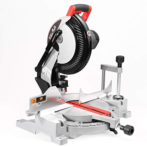 XtremepowerUS 1800W 10' Sliding Compound Miter Saw Precision Cut 6000 RPM 13-Amp Motor Blade Guard Build-in Dust Bag