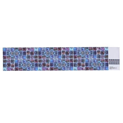 Pegatinas decorativas de PVC para azulejos, diseño de mosaico de lentejuelas para decoración de arte espacial de pared de fondo familiar