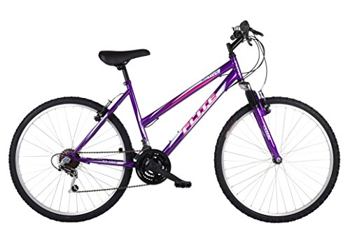 Flite Women's Active Hardtail Mountain Bike, Purple, 18 Inch/26 Inch