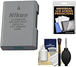 Nikon EN-EL14a Rechargeable Li-ion Battery with Cleaning Kit for Df, D3300, D3400, D5300, D5500, D5600 DSLR Cameras