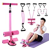 Abdominal Exercise Equipment Sit Up Bar for Floor Assistant Swiftrend Multi-Functioning Tension Rope Puller Sit-ups Tension Exercise Equipment (Pink)
