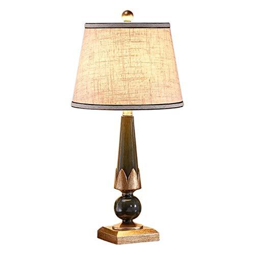Lampara Mesilla de Noche Americana lámpara de mesa retro creativo sencillo dormitorio lámpara de cabecera Modern Hotel Sala lámpara de escritorio con el interruptor de botón Lámpara de Escritorio