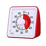Temporizador analógico visual, sin tictac, cuenta atrás silenciosa para aula o reunión, herramienta de gestión de tiempo para niños y adultos