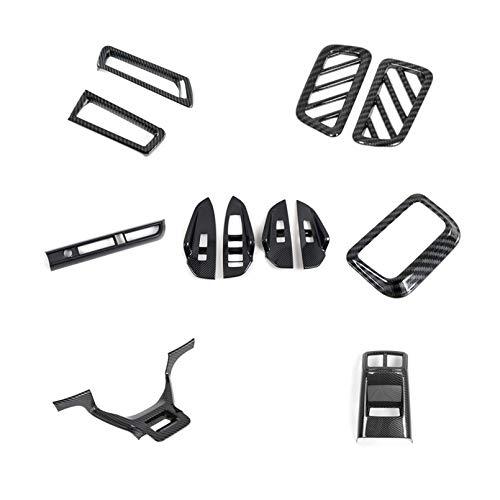 ITrims for Kia K5 Optima 2020 2021 Interior Car Accessories Kit Cover Trims Decoration Parts 12PCS ABS Carbon Fiber