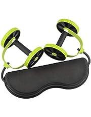 عدة تمارين ريفوفلكس اكستريم رالي قابلة للطي متعددة الوظائفتتالف من حبل شد وعجلات  لشد البطن وتدريب العضلات واللياقة البدنية في المنزل مخصصة للنساء والرجال