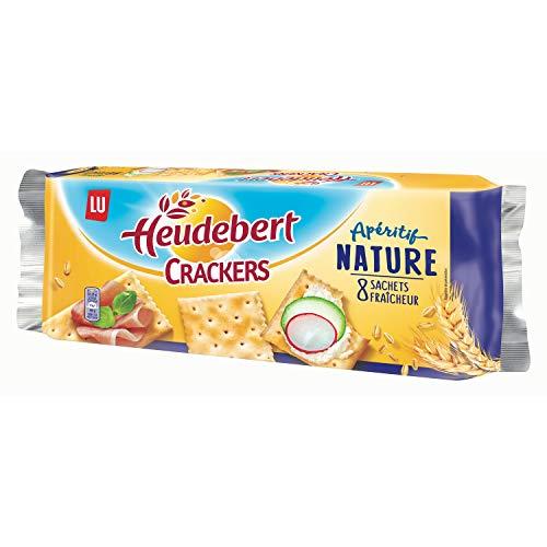 Biscuits apéritif Crackers/nature HEUDEBERT le paquet de 40 Crackers - 250 g