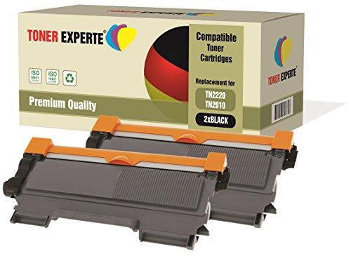 Kit 2 TONER EXPERTE TN2220 TN2010 Toner compatibili per Brother DCP-7055 DCP-7060D DCP-7065DN HL-2130 HL-2132 HL-2135W HL-2240 HL-2240D HL-2250DN HL-2270DW MFC-7360N MFC-7460DN MFC-7860DW FAX-2840