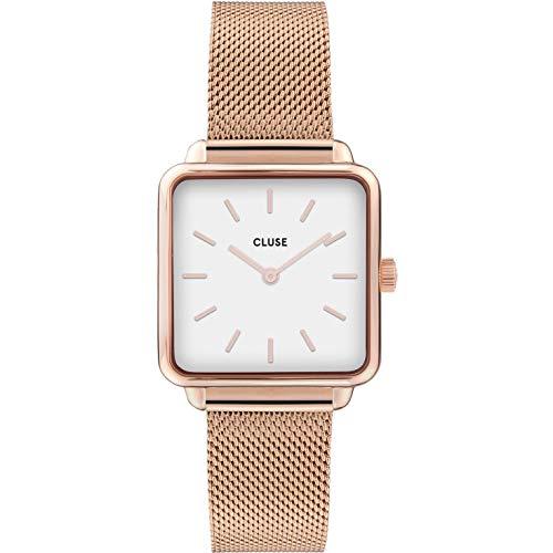 CLUSE Damen Analog Quarz Uhr mit Edelstahl Armband CW0101207001