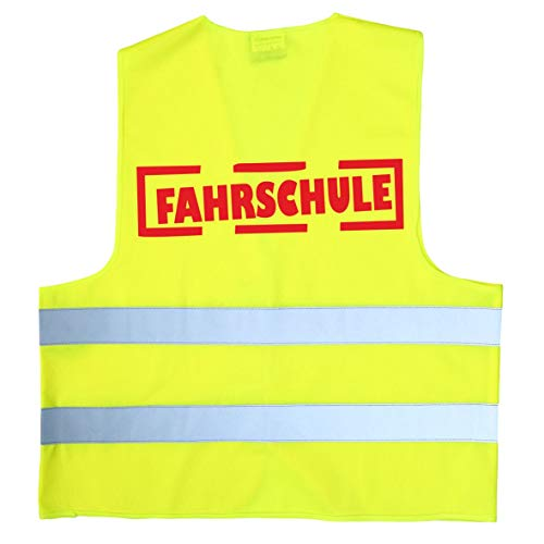 3 Stück FAHRSCHULE Warnweste gelb Sicherheitsweste Fahrschüler Neongelb Führerschein