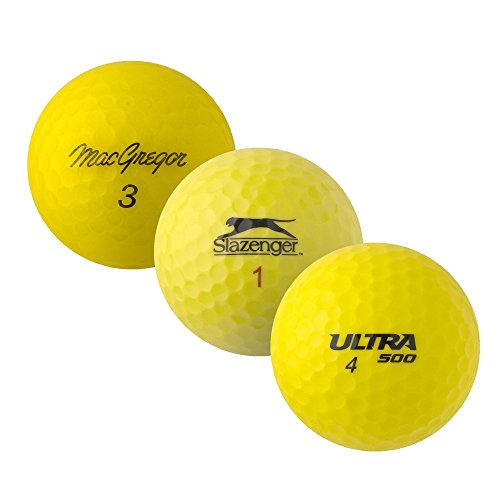PEARL GOLF Marken Mix - AAAA - AAA - gelb - gebrauchte Golfbälle - 50 Lake Balls