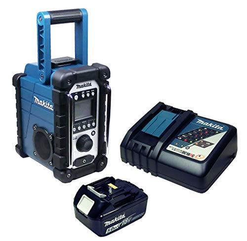Makita DMR 107 Baustellenradio mit Akku 5 Ah und Ladegerä