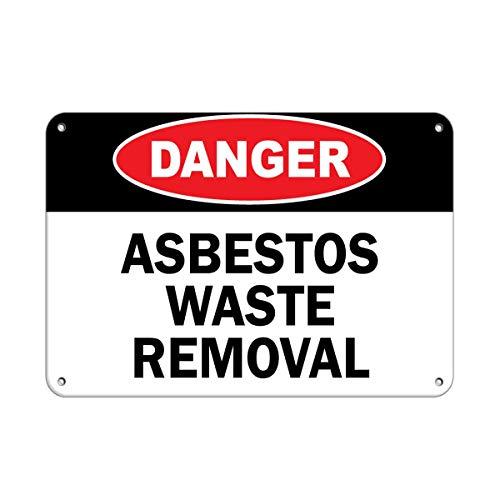 Gefahrenabfall Gefahrenabfall Asbest Aufkleber Aufkleber Warnaufkleber, Hausdeko, Fenster, Auto, Sicherheitshinweise verschließbar, 20,3 x 30,5 cm