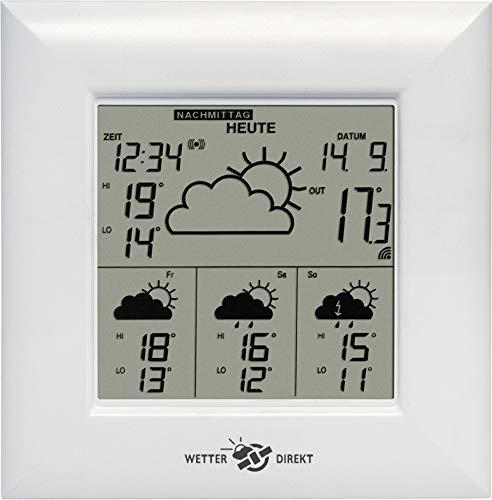 Technoline WetterDirektStation WD 4000, Weiß, 2-teilig bestehend aus Station und Sensor