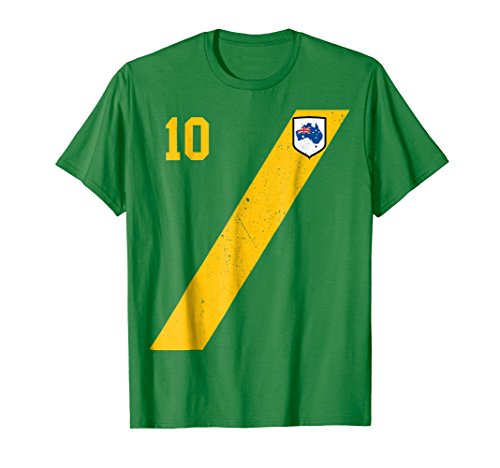 Retro Australia Soccer Jersey Aussie T-Shirt in Green