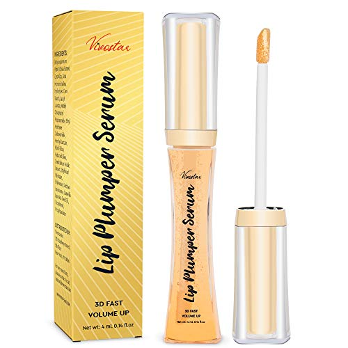Lip Plumper, 3D Natural Collagen Lip Enhancer, Lip Plumping Lip Gloss, Fuller & Hydrated, Sexy Lip Gloss, Formulated by Safe Ingredients