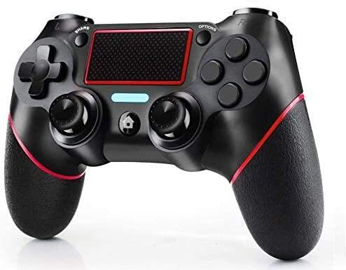 Controller PS4 ,Controller für PS4 mit Touchpanel-Spielbrett Dual Vibration Shock PS4 Controller Kabelloser Gamepad Controller, Wireless Controller für PS4 /Pro/Slim/PC