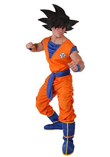Mens Plus Size Dragon Ball Z Goku Costume Goku Costume from Dragon Ball Z 3X Orange