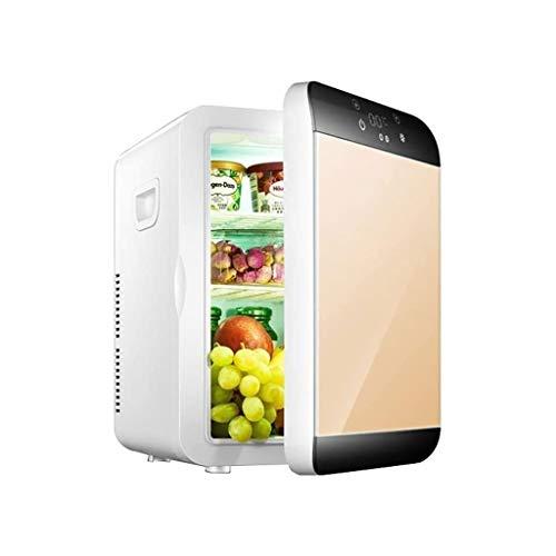 QJL_ANA M_LRSSK del refrigerador del refrigerador y Calentador de 12 litros for el hogar, Oficina, Coche, Dormitorio o Barco cosmética Nevera con Panel Digital (Color : Gold)