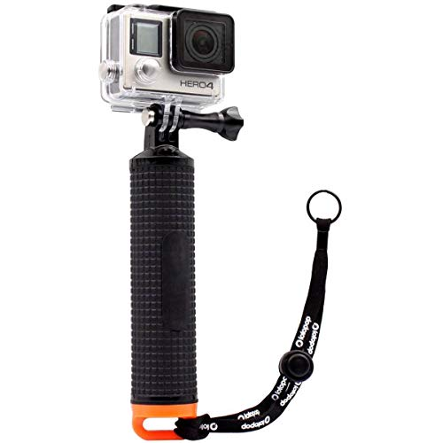 LOTOPOP Waterproof Floating Hand Grip for Gopro Hero 5 3+ 4 Session 3 - Handle Mount Accessories and Water Sport Pole for GeekPro 3.0 and ASX Action Pro Cameras Action Camera Accessories