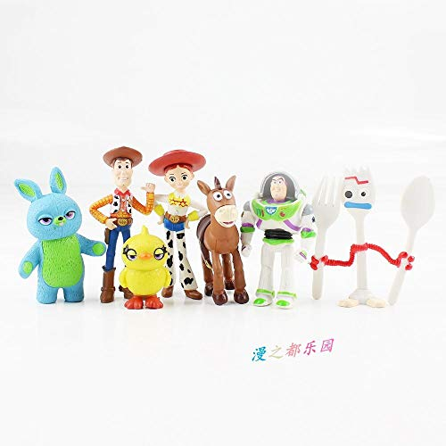 Storytelling Toy Doll Hudy Bass Lightyear Tris Decoration Verjaardagstaart Decoratie Gift Set-1 set van 7 modellen