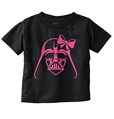 Funny Villain Bow Vader Cute Nerdy Geeky Toddler T Shirt Black
