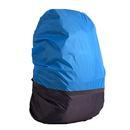 Beetest Double-Couleur Haute visibilité imperméable Sac à Dos imperméable Housse de Pluie avec Sangle réfléchissante pour la randonnée Camping vélo VTT Taille XL Gris Bleu