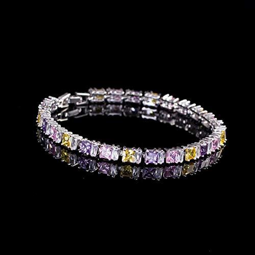 Bracelet For Women Noble Dancing Party Cz Women Jewelry Clear White Cubic Zirconia Fashion Tennis Bracelets Bangles Accessories Colorful