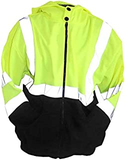 Class 3 Hi Vis Hooded Sweatshirt With Full Zip Front (3X-Large)